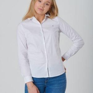 Tommy Hilfiger Girls Stretch Poplin Shirt L/S Kauluspaita Valkoinen
