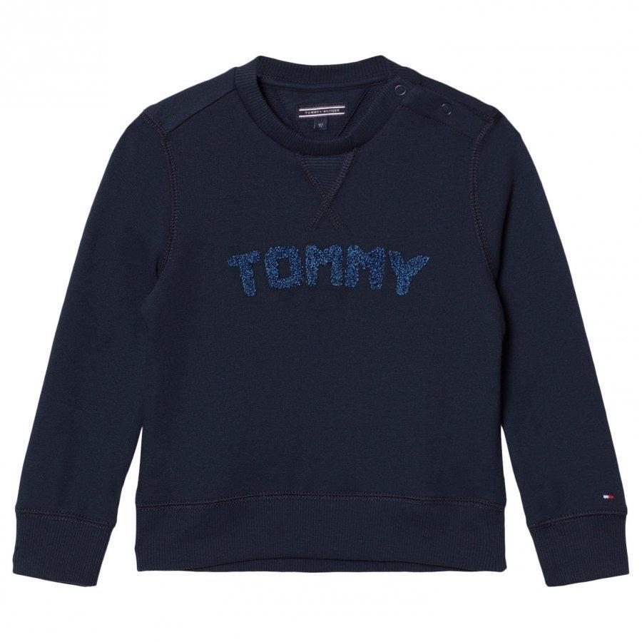 Tommy Hilfiger Navy Branded Sweatshirt Oloasun Paita