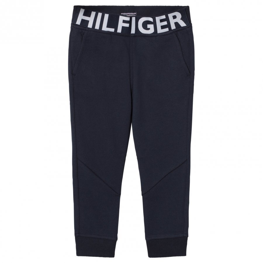 Tommy Hilfiger Navy Branded Waistband Sweat Pants Verryttelyhousut