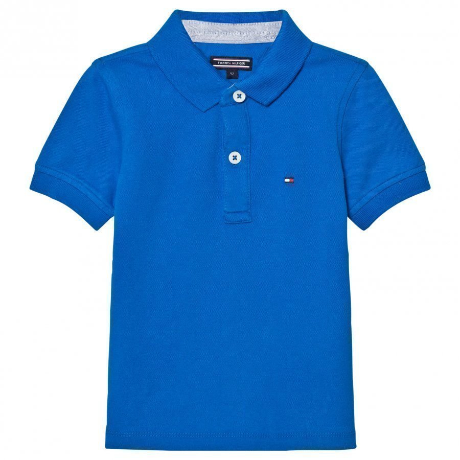 Tommy Hilfiger Royal Blue Polo With Flag Branding Pikeepaita