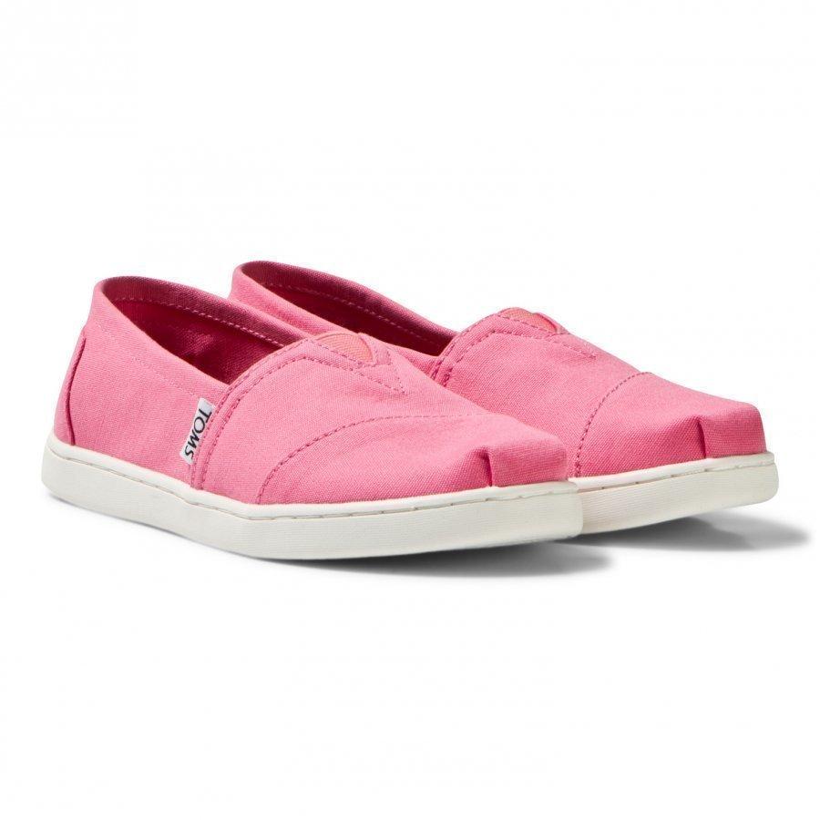 Toms Bubblegum Pink Canvas Youth Classics Espadrillot