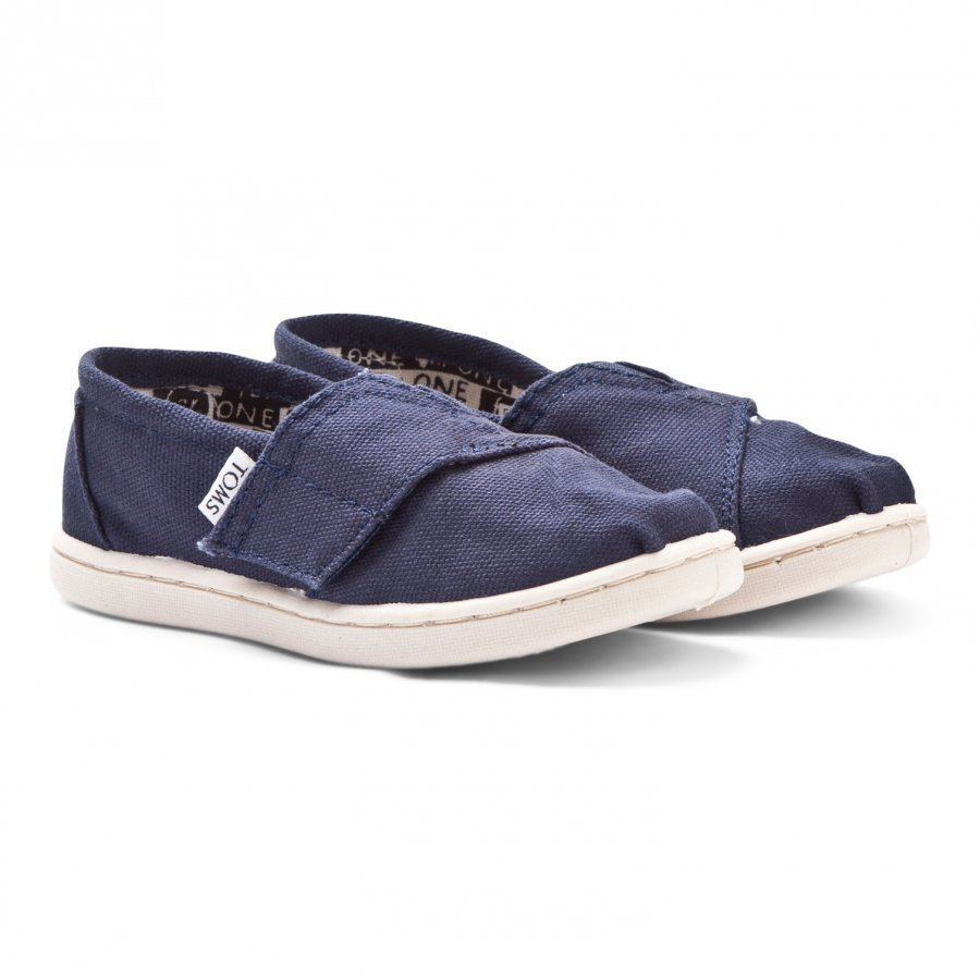 Toms Navy Canvas Tiny Toms Classics Slip On Kengät