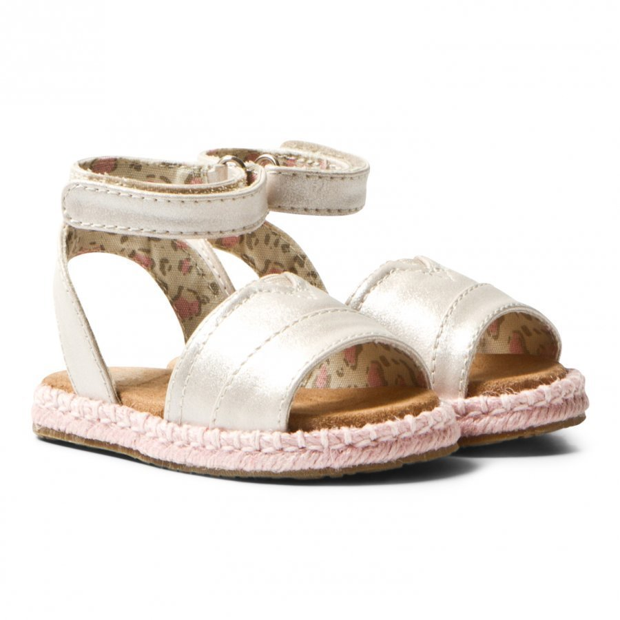 Toms Pale Gold Shimmer Tiny Toms Malea Sandals Remmisandaalit