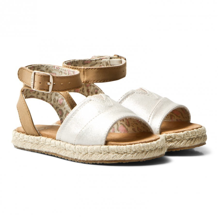Toms Pale Gold Shimmer Youth Malea Sandals Remmisandaalit