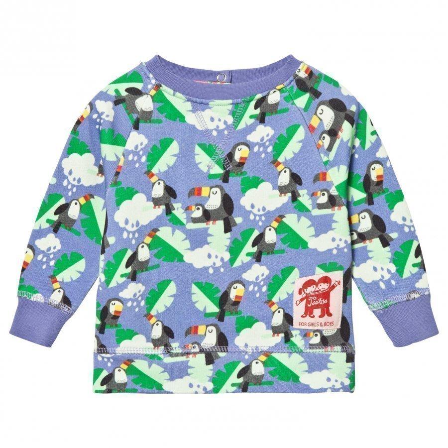 Tootsa Macginty Blue Toucan Print Sweatshirt Oloasun Paita