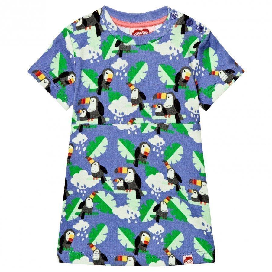 Tootsa Macginty Blue Toucans Print Jersey Dress Mekko
