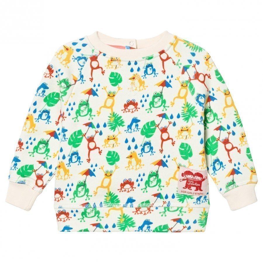 Tootsa Macginty Cream Frogs Print Sweatshirt Oloasun Paita