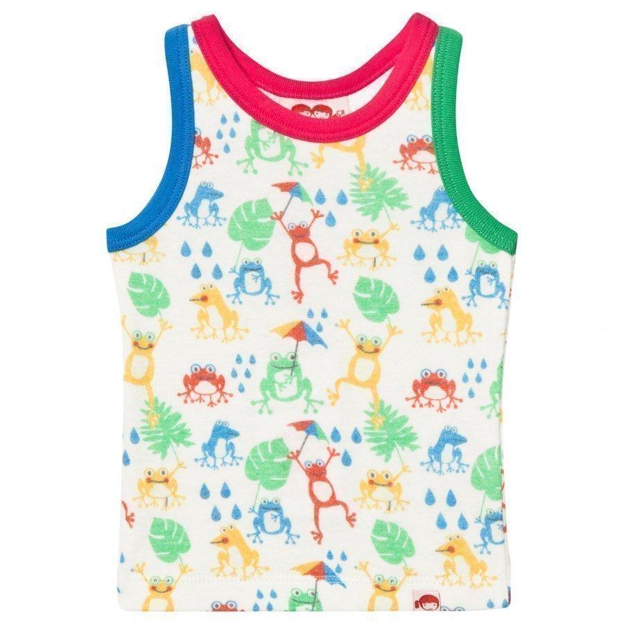 Tootsa Macginty Cream Frogs Print Vest T-Paita