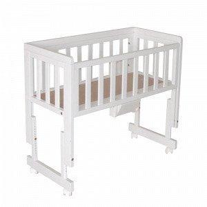 Troll Bedside Crib Two Vauvansänky Valkoinen