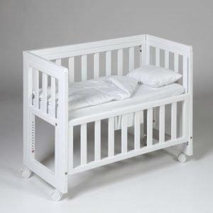 Troll Bedside Crib Valkoinen
