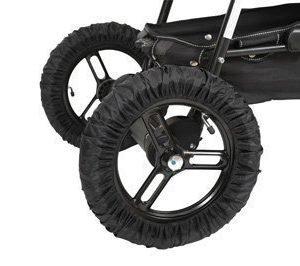 Tullsa Pyöränsuojat Avattava 35 cm Musta 4 kpl