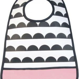 Tullsa Ruokalappu Waves Musta/Valkoinen/Vaaleanpunainen