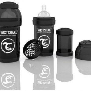 Twistshake Tuttipullo Antikoliikki 180 ml Musta