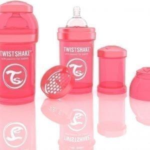 Twistshake Tuttipullo Antikoliikki 180 ml Peach