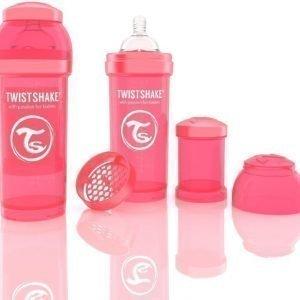 Twistshake Tuttipullo Antikoliikki 260 ml Peach