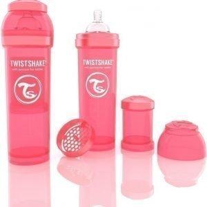 Twistshake Tuttipullo Antikoliikki 330 ml Peach