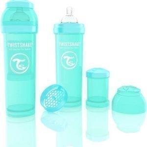 Twistshake Tuttipullo Antikoliikki 330 ml Turkoosi