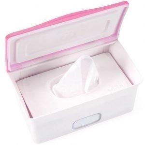 Ubbi Säilytyslaatikko vauvan kosteuspyyhkeille Vaaleanpunainen