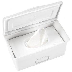 Ubbi Säilytyslaatikko vauvan kosteuspyyhkeille Valkoinen