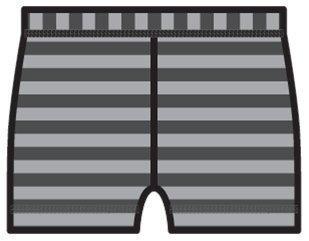 Uimahousut harmaa raita