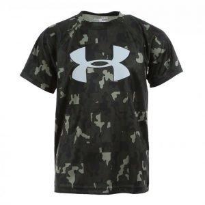 Under Armour Big Logo Print Ss T-Shirt Tekninen T-paita Musta / Harmaa