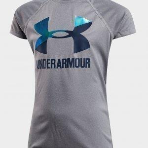 Under Armour Girls' Logo T-Shirt Harmaa