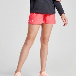 Under Armour Girls' Play Up Shorts Vaaleanpunainen