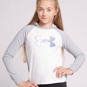 Under Armour Girls' Threadborne Logo Hoodie Valkoinen