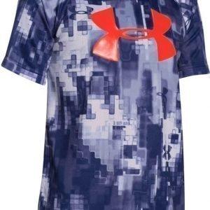 Under Armour T-paita UA Logo print Blue knight/Risk red