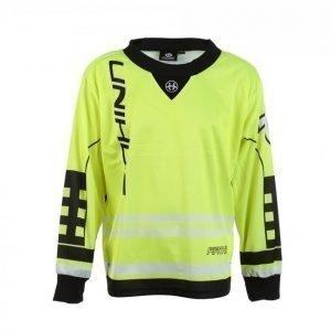 Unihoc Goalie Sweater Feather Treenipaita Keltainen