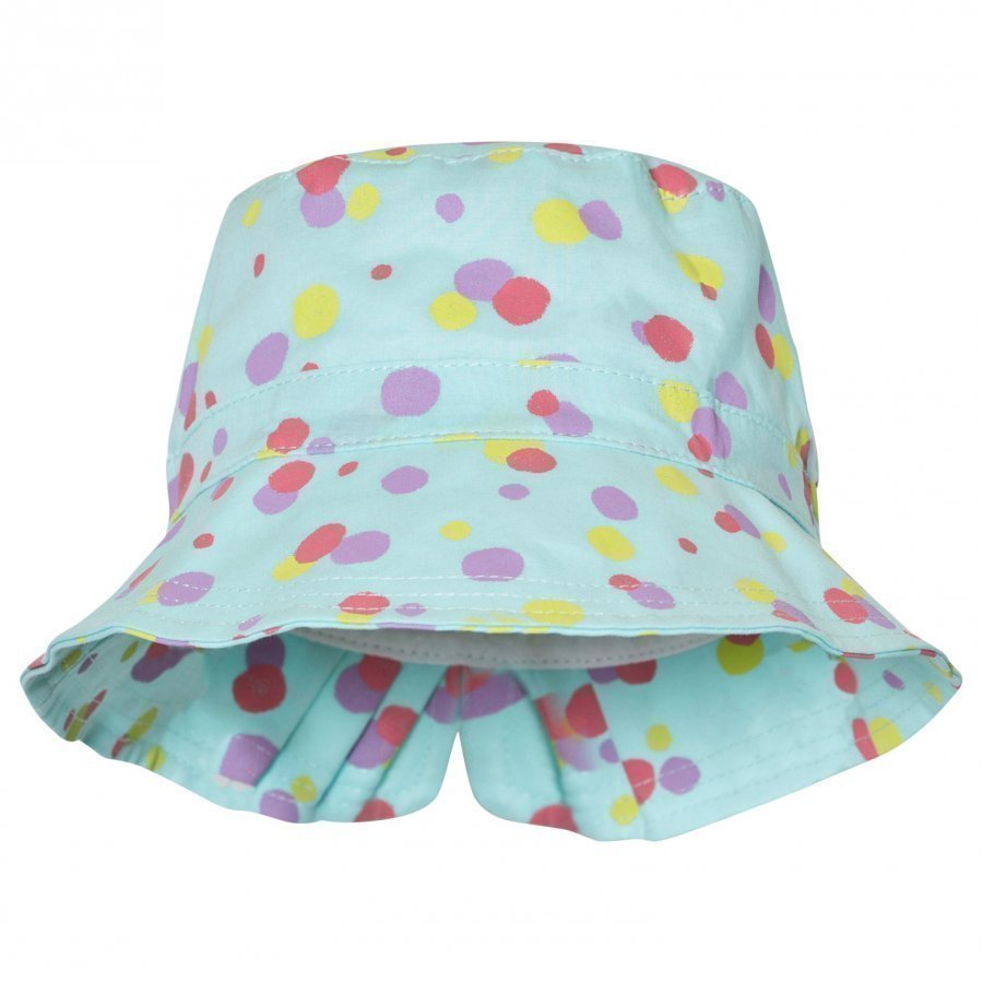 United Colors Of Benetton Aqua Blue Polka Dot Sun Hat Aurinkohattu