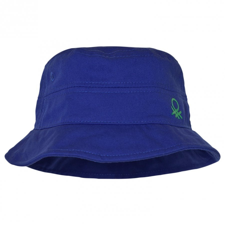 United Colors Of Benetton Blue Cotton Sun Hat Aurinkohattu