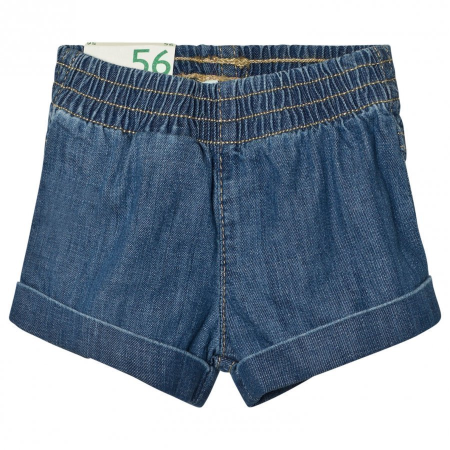 United Colors Of Benetton Blue Denim Shorts Farkkushortsit