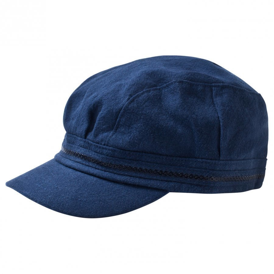 United Colors Of Benetton Cap With Sequins Details Navy Lippis