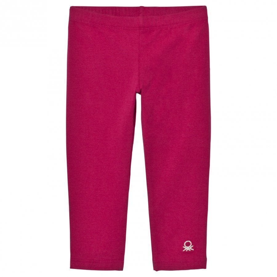 United Colors Of Benetton Classic Cherry Pink Leggings With Logo Legginsit