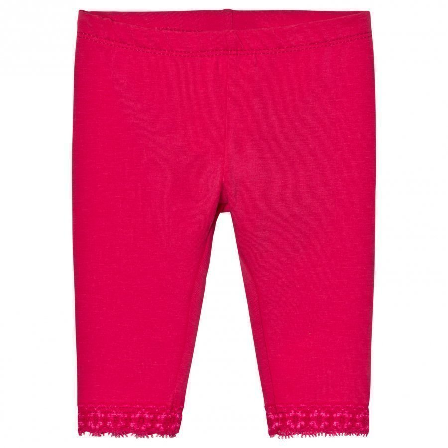 United Colors Of Benetton Classic Leggings With Lace Trim Fuchsia Legginsit