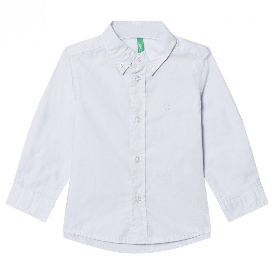 United Colors Of Benetton Classic Smart Shirt Light Blue Kauluspaita