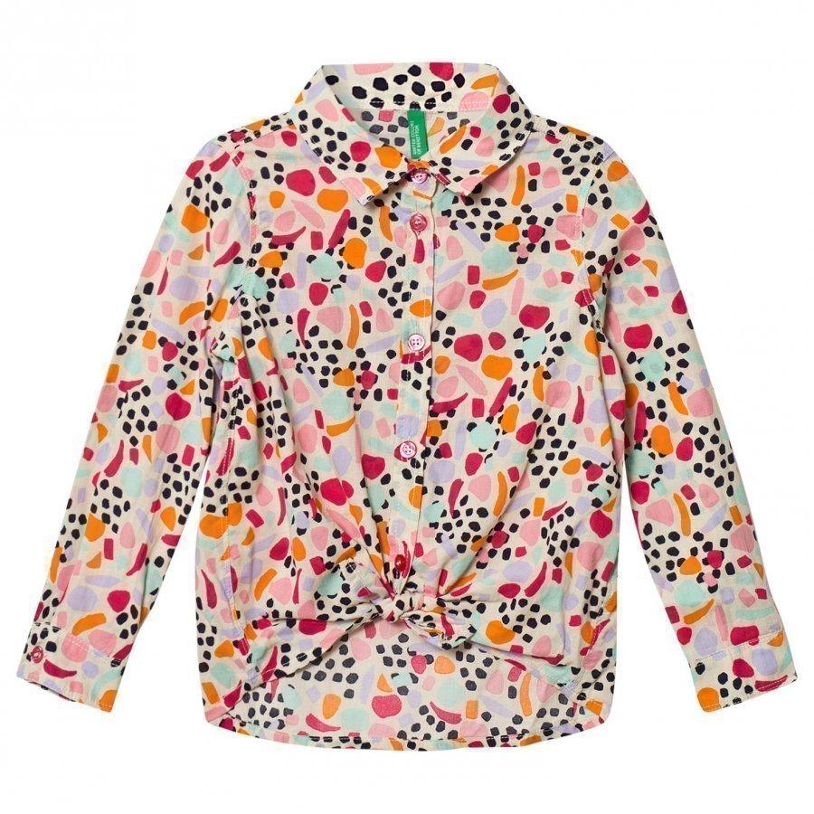 United Colors Of Benetton Colored Shirt Tie Kauluspaita
