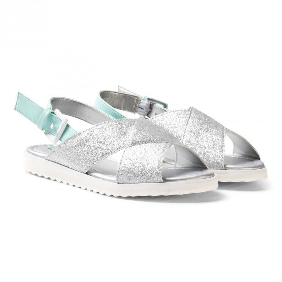 United Colors Of Benetton Cross Front Sandals Silver Remmisandaalit