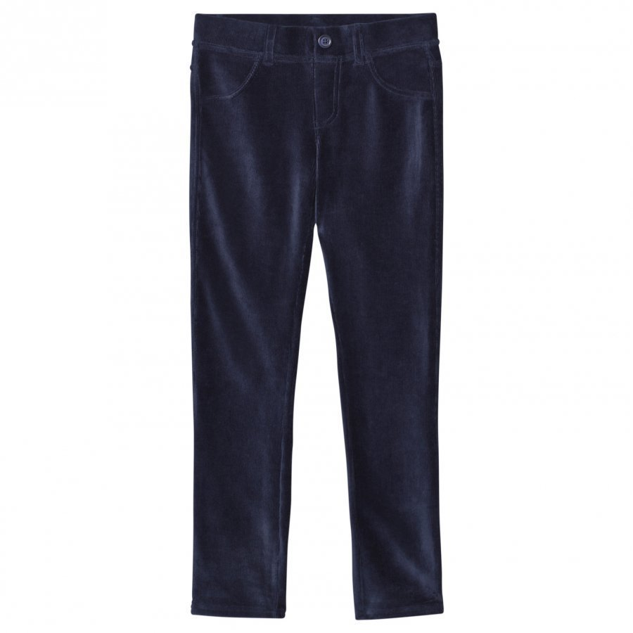 United Colors Of Benetton Dark Blue Corduroy Trousers Housut