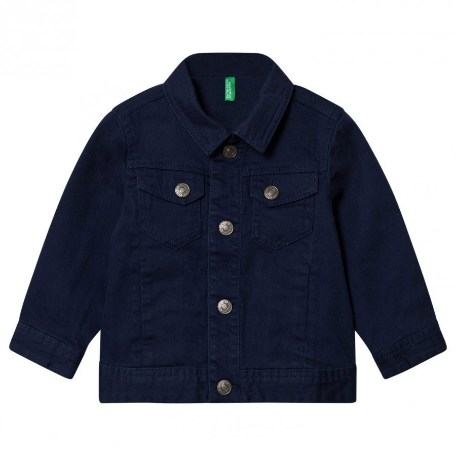 United Colors Of Benetton Denim Jacket Navy Farkkutakki