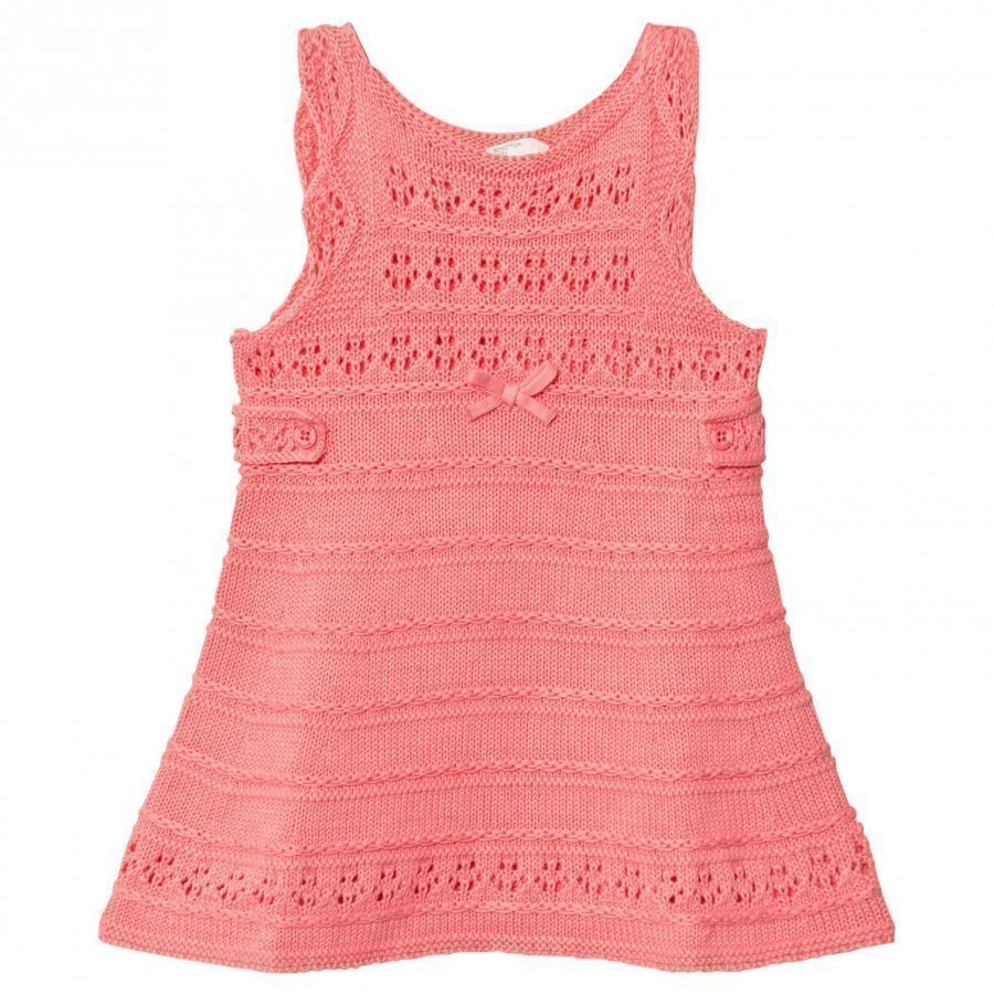 United Colors Of Benetton Fine Knit A Line Dress Pink Mekko