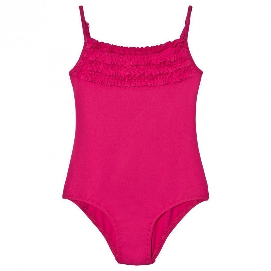 United Colors Of Benetton Fuchsia Swimsuit With Frill Neckline Uimapuku