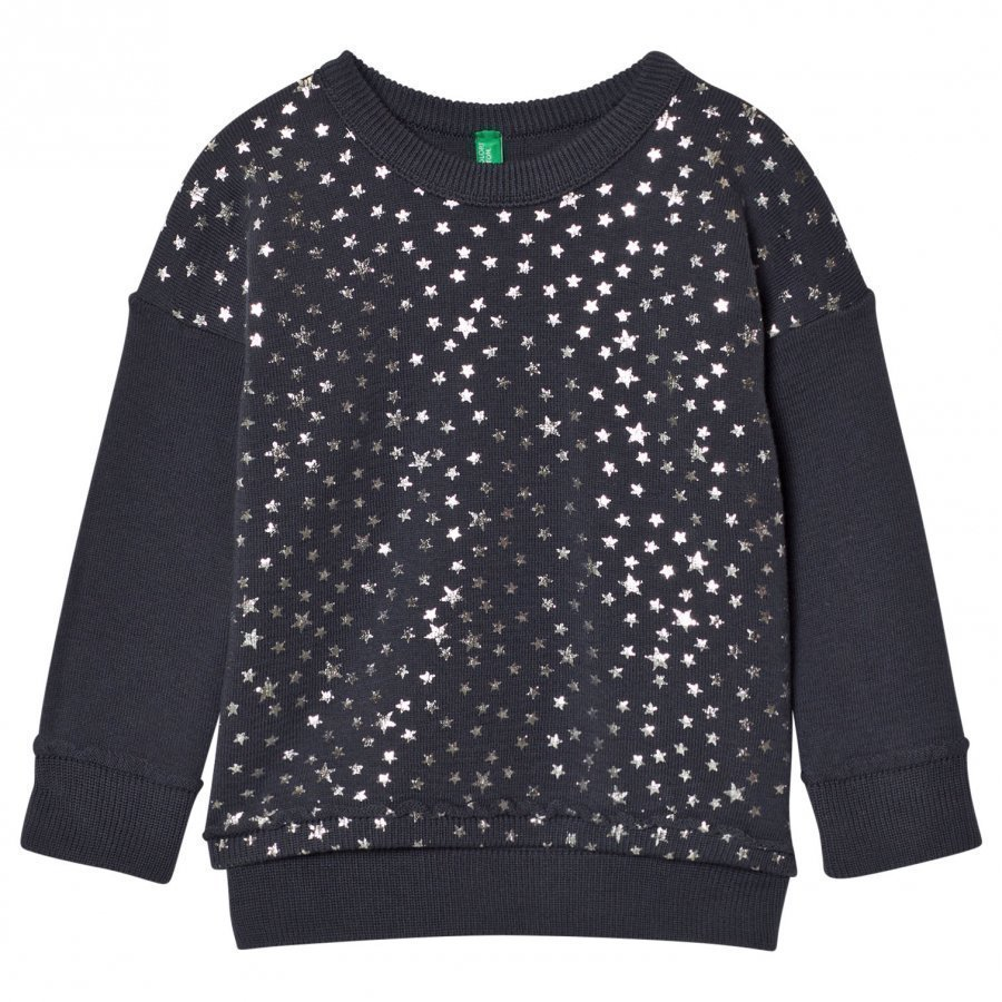 United Colors Of Benetton Glitter Star Print Sweater Dark Grey Paita
