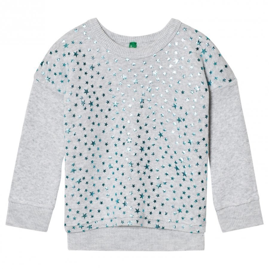United Colors Of Benetton Glitter Star Print Sweater Light Grey Paita