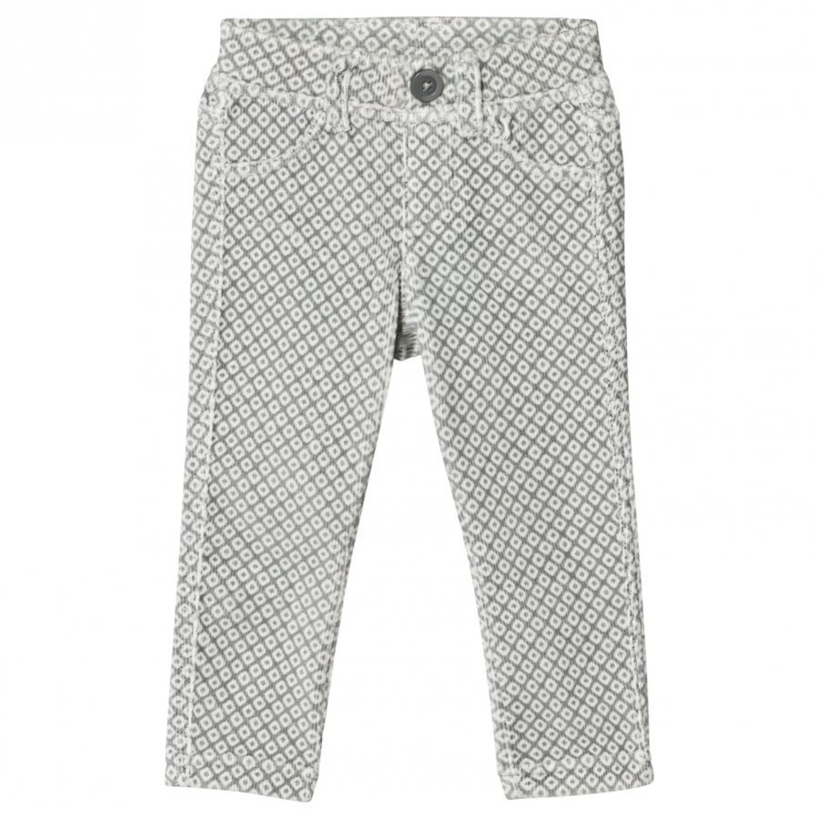 United Colors Of Benetton Grey/White Corduroy Trousers Housut