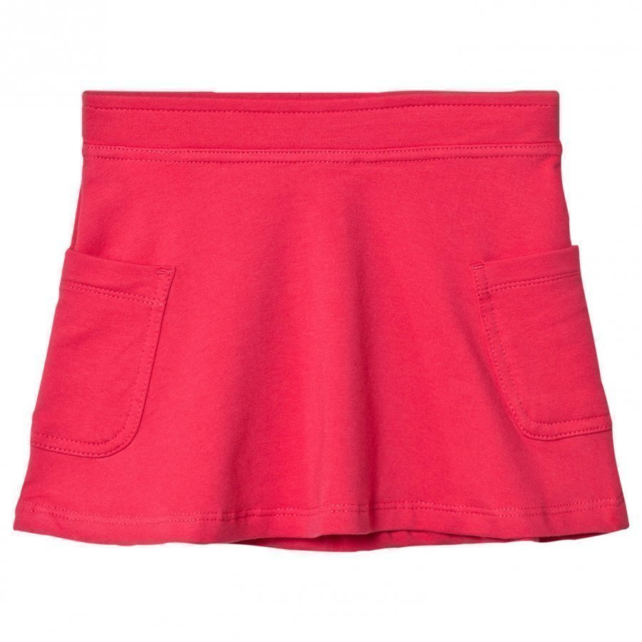 United Colors Of Benetton Jersey A Line Skirt With Side Pockets Fuschia Pink Lyhyt Hame