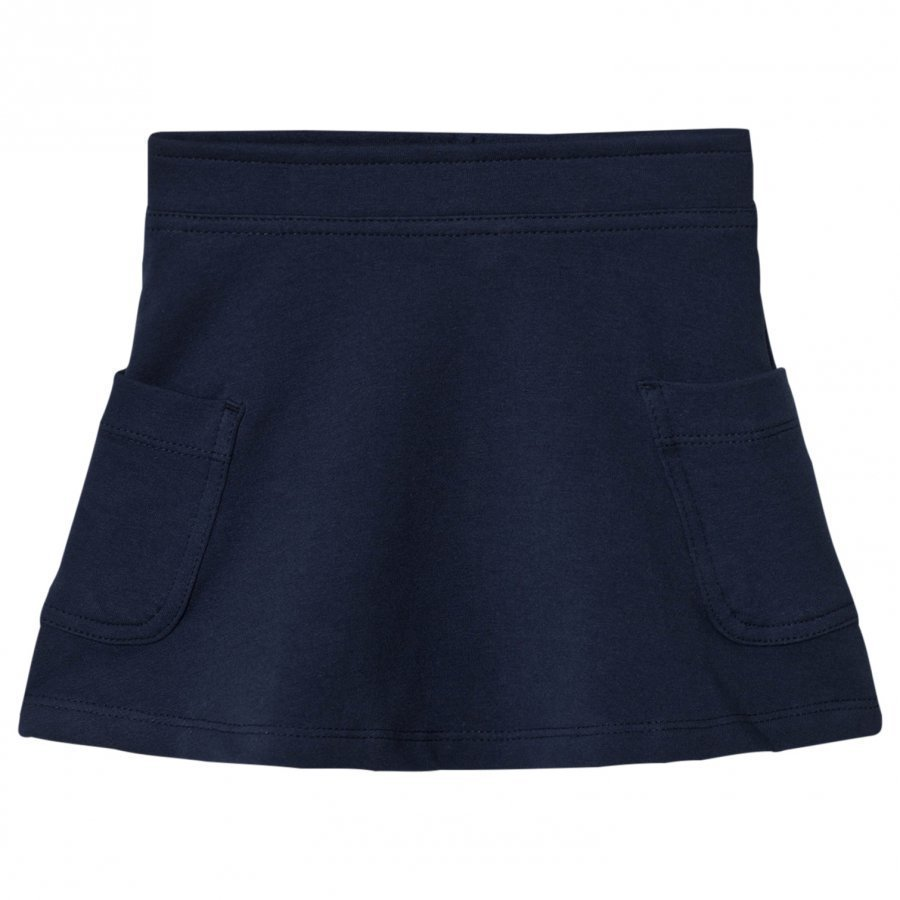 United Colors Of Benetton Jersey A Line Skirt With Side Pockets Navy Lyhyt Hame