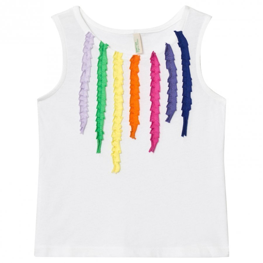 United Colors Of Benetton Jersey Tank Top With Colored Stripes Liivi