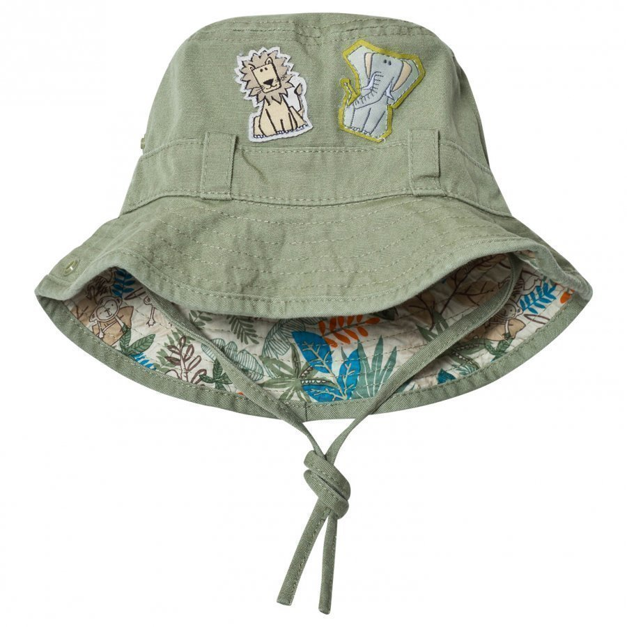 United Colors Of Benetton Khaki Safari Print Sun Hat Aurinkohattu